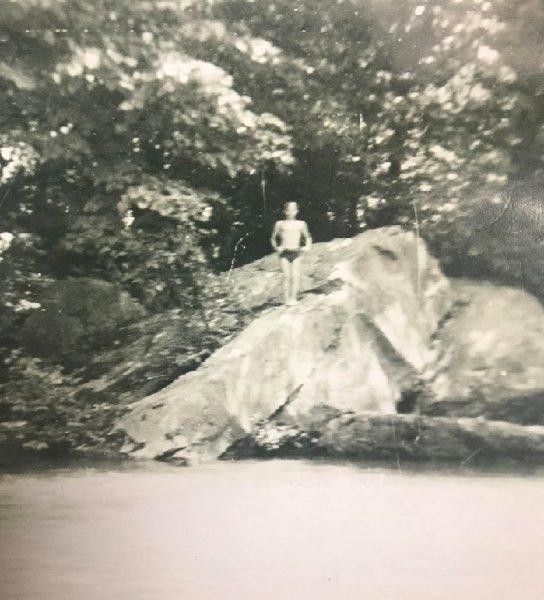 Frank on a Rock
