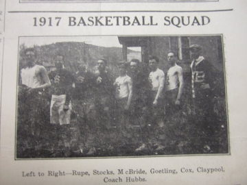 1917 Basketball Squad